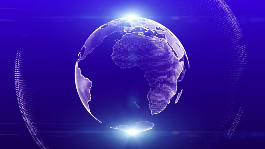 ART global digital world technology earth concept Blue Marble Digital Clouds Earth rotating animation social future technology abstract business scientific growth network surrounding planet earth | Shutterstock HD Video #1036243331