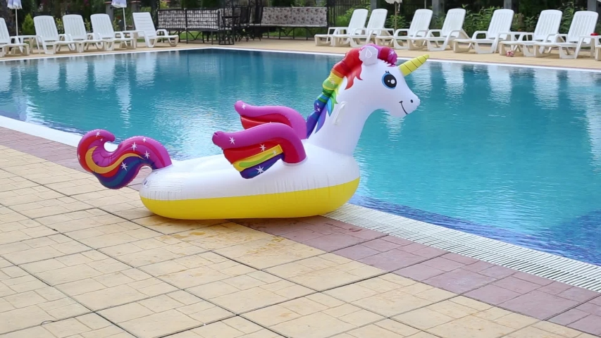 Unicorn Swim Tube Near Swimming Stock Footage Video (100% Royalty-free)  1036416701 | Shutterstock