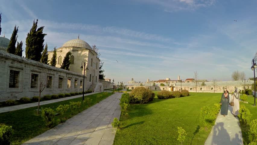 Turkish mosque at sunset (Suleymaniye Cami) #10364201