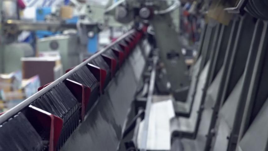 Line conveyor printing factory HD video prores | Shutterstock HD Video #1036425371