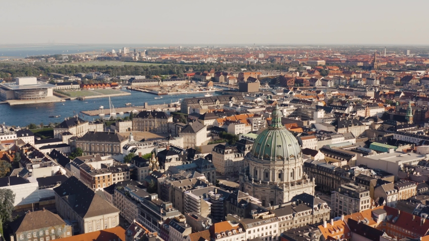 Cityscape of Copenhagen, the capital of Denmark | Shutterstock HD Video #1036537271