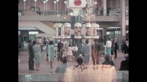 CIRCA 1960s - The Clock of Nations is shown at the Midtown Plaza in Rochester, New York, in 1963.