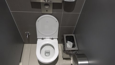 Cool Istanbul Airport Turkey 18Th Of June 2019 4K Top View Toilet Wc In The New Istanbul Airport Uwap Interior Chair Design Uwaporg