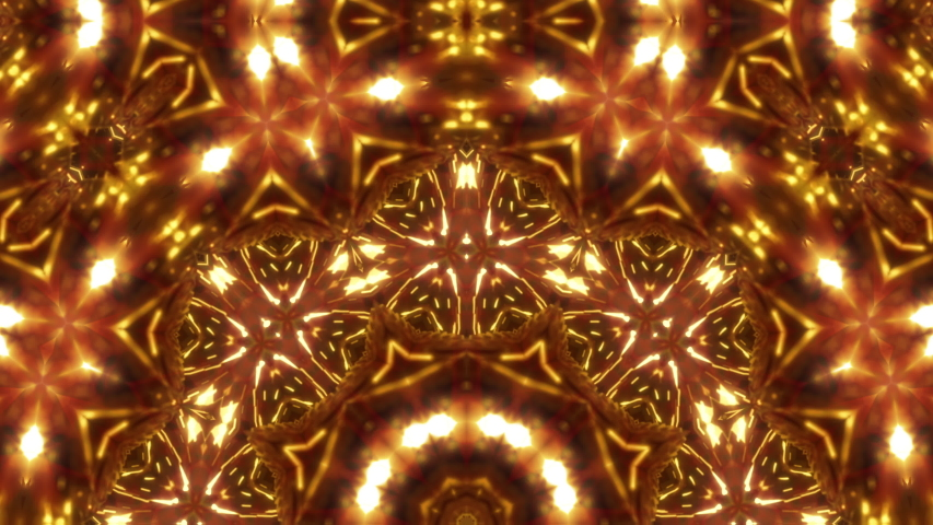 Golden awards kaleidoscope seamless animation for fashion and awards show, events, music videos, LED screens, video-mapping, stage design and projection show. | Shutterstock HD Video #1037499251
