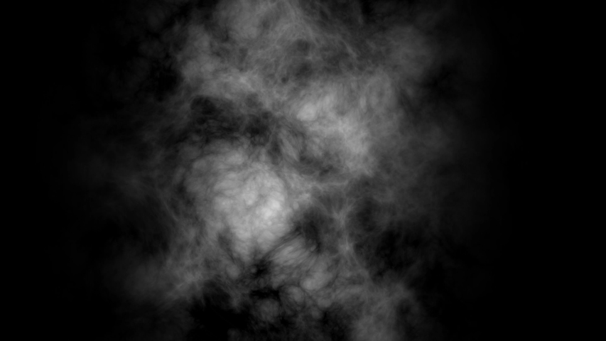 White atmospheric smoke, fog background. Mist and dust object on black background.  #1038070271