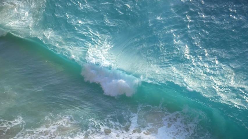 Beautiful sky blue water wave | Shutterstock HD Video #1038119741