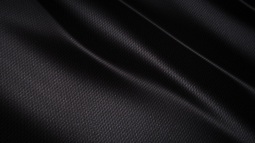Wave Black satin fabric Background . 3D digital animation of a waving cloth.   Shutterstock HD Video #1038265241
