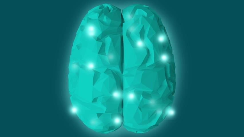 Digital brain on a blue background. Artificial intelligence concept  | Shutterstock HD Video #1038537371