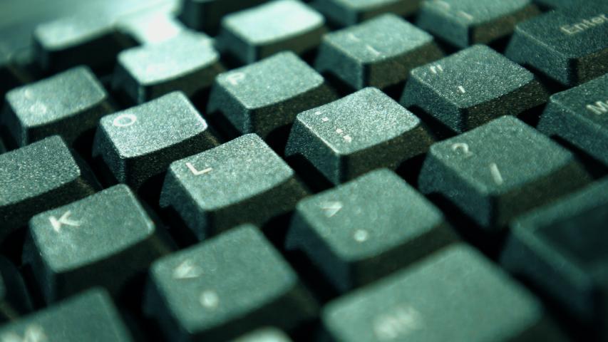 Desktop computer keyboard, technology communication idea | Shutterstock HD Video #1038954911