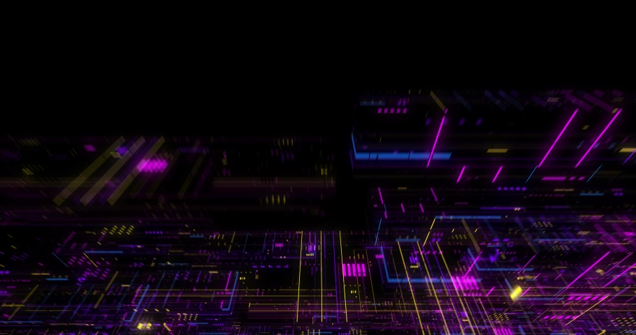 Seamless fly through of abstract circuitry with digital grid background, Data deep learning computer machine. AI artificial intelligence and ML machine learning concept. loop, 3D render | Shutterstock HD Video #1039053161