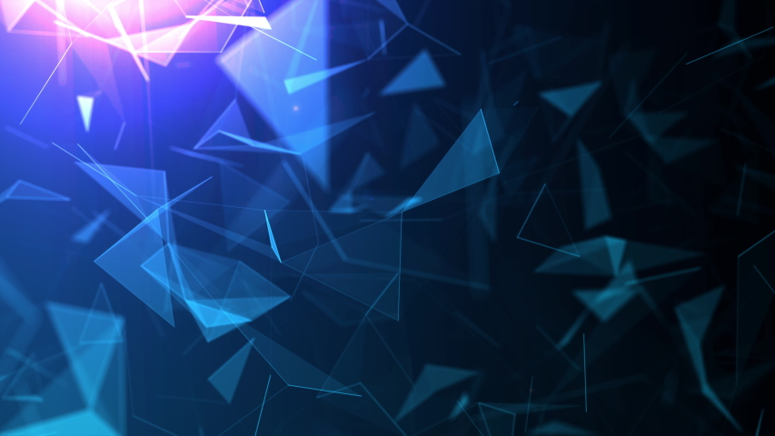 Abstract background motion transformation of empty copy space with plexus pattern of future innovation technology digital business concept with line network for decentralize communication connection | Shutterstock HD Video #1039202981