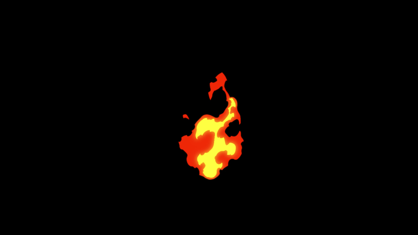 2d Cartoon FX Pack 4K 16 Fire Elements. Pre-rendered with alpha channel with 4K resolution. | Shutterstock HD Video #1039428101