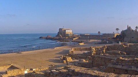 The old city Caesarea maritima, Israel/Sunrise in Caesarea/flint5