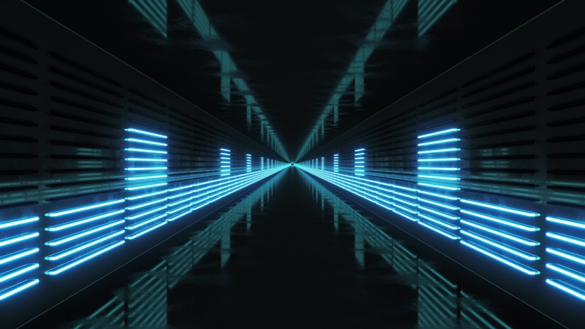 Looping Tunnel with Neon Equalizer | Shutterstock HD Video #1039923131