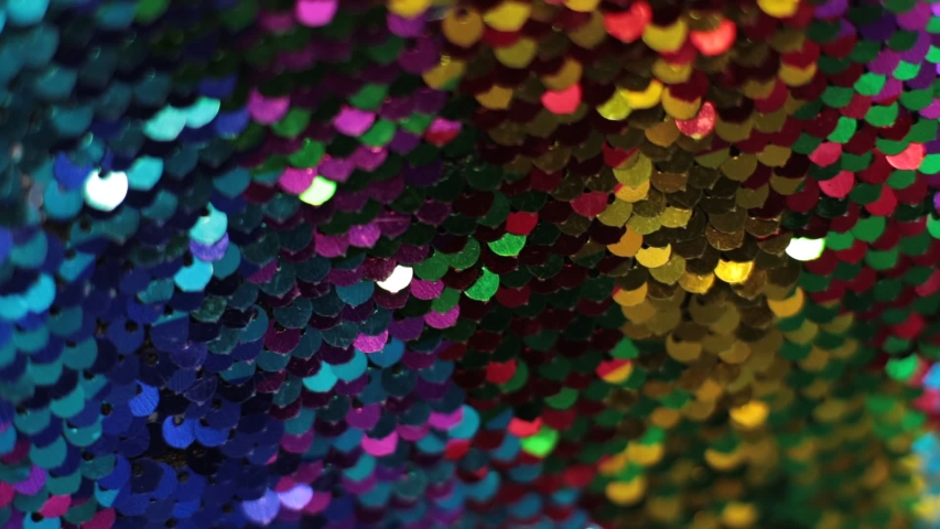 Shiny texture background iridescent multicolor sequins macro photo | Shutterstock HD Video #1040196131