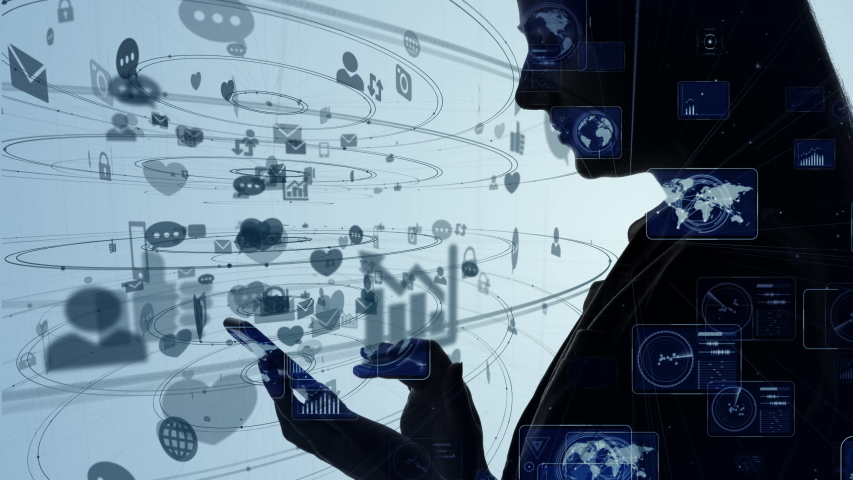 Social networking service concept. communication network. | Shutterstock HD Video #1040658731