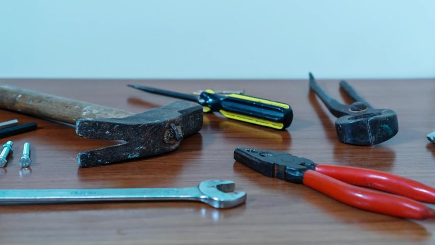 Work tools appear in stop motion | Shutterstock HD Video #1040675891