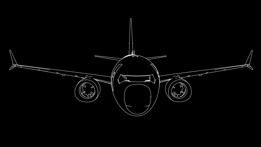 Drawing airplane in animation 4k | Shutterstock HD Video #1040677601