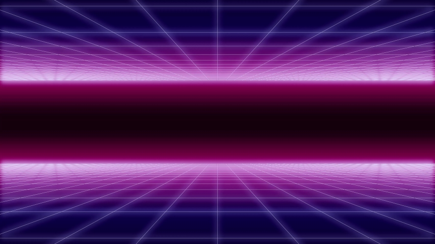 Synthwave wireframe net top and bottom 80s Retro Futurism Background 3d illustration render seamless loop | Shutterstock HD Video #1041059171