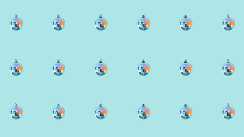 Minimal Motion art. Pattern of Christmas silver balls. Seamless effect   Shutterstock HD Video #1041091441