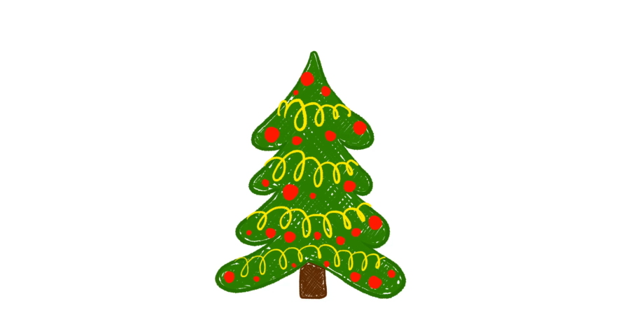 Hand drawn Christmas tree animation | Shutterstock HD Video #1041137761