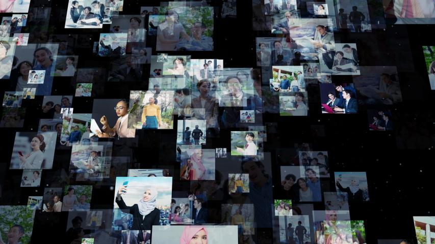 Social networking service concept. communication network. | Shutterstock HD Video #1041380221