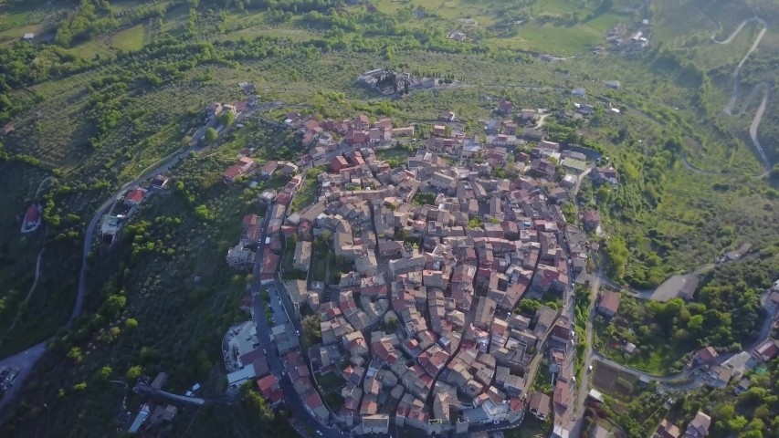 Frosinone/italy   Aerial video from Vico nel Lazio     taken by drone camera | Shutterstock HD Video #1041425371