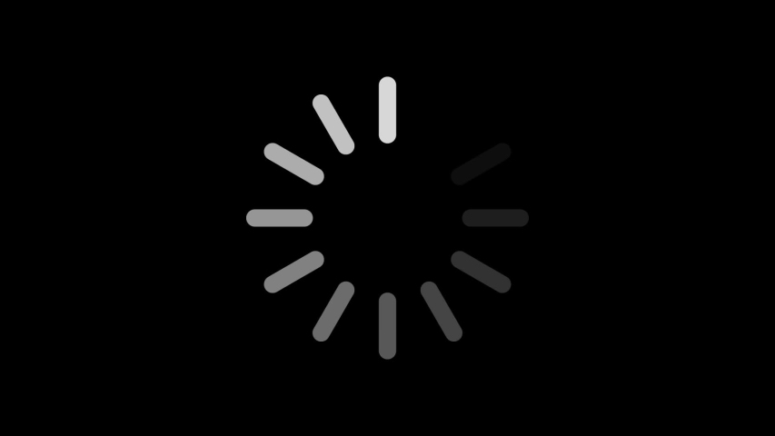 Loading circle icon on black background animation with luma matte. | Shutterstock HD Video #1041501241