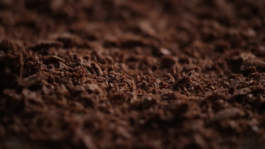 Sweet grated chocolate for cooking dessert | Shutterstock HD Video #1041772231