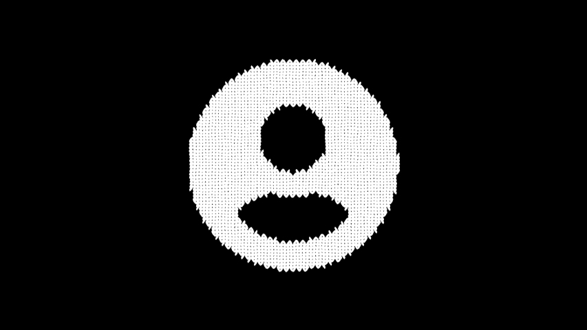 Symbol user circle is knitted from a woolen thread. Knit like a sweater | Shutterstock HD Video #1042633621
