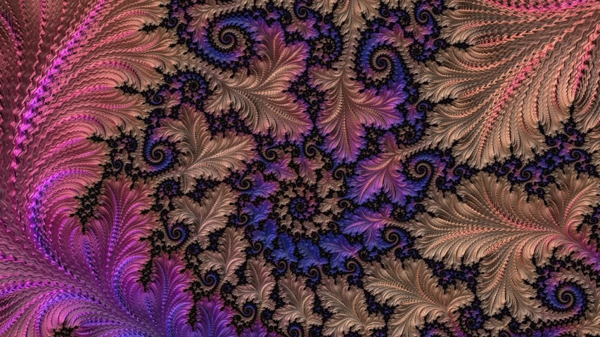 Blue, pink and beige changing color abstract floral spiral fractal. Fantasy textured artwork for design. | Shutterstock HD Video #1042688281