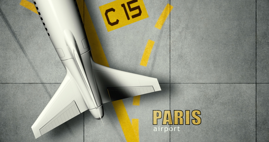 An airliner is taxiing on the tarmac at Paris Airport | Shutterstock HD Video #1044567841