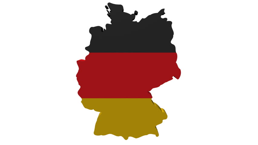 Moving Through Containers To Germany Map Flag Animation Stock - Germany map hd image