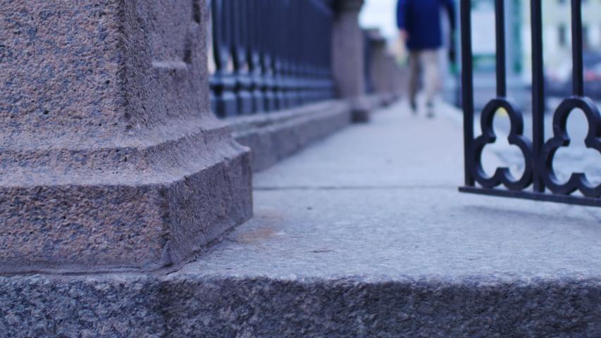 Old iron wicket in St. Petersburg is closing   Shutterstock HD Video #1044962041