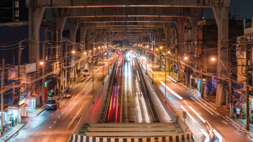 Light car a busy area separate Thapra in Bangkok,Thailand | Shutterstock HD Video #1046509291