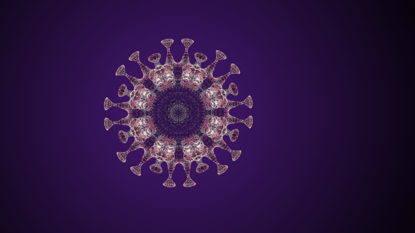 3d animation video of a bacteria in motion inside a glittering circle on a black background. | Shutterstock HD Video #1046670991