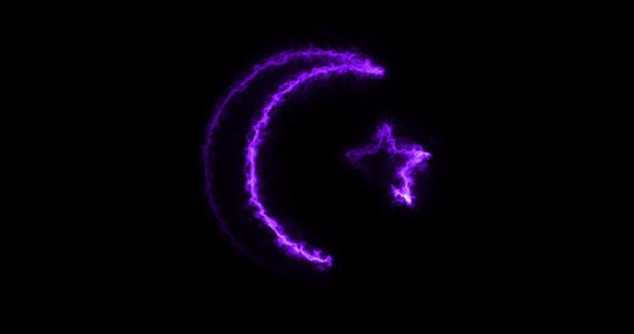 4 different crescent star islam symbol animations | Shutterstock HD Video #1046905981
