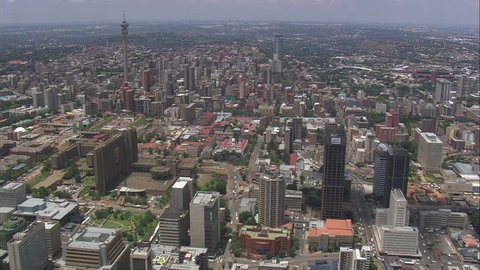 AERIAL South Africa-Johannesburg City Centre 2009