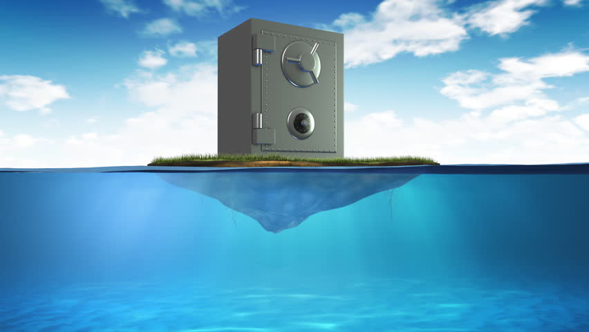 Vault sinking in the sea