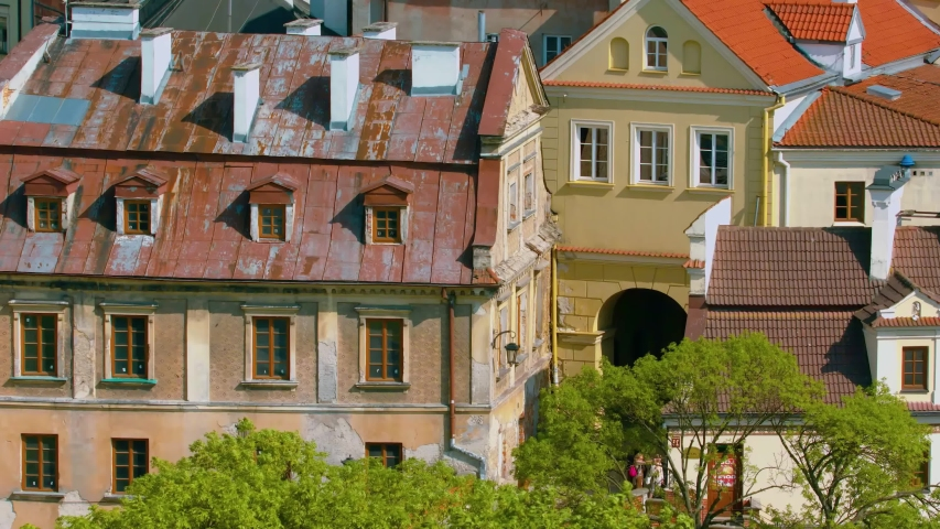 Summer panorama of city of Lublin in Poland, Europe - high quality stock footage   Shutterstock HD Video #1047154921