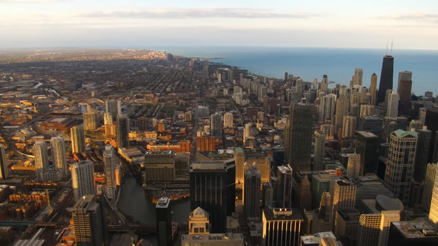Time lapse Chicago Skyline at sunset | Shutterstock HD Video #1047268