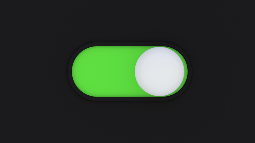 Visualization of Settings Switch in Device GUI. Digitization Button which Change Control Slider Bar Turn on and Turn off. Minimalistic Animated Visual Trend of Interface Element. Digital Interaction | Shutterstock HD Video #1049107471