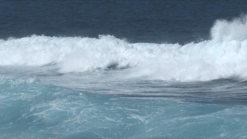 Powerful Waves breaking in the sea, Fuerteventura, Canary Islands. | Shutterstock HD Video #1049661301