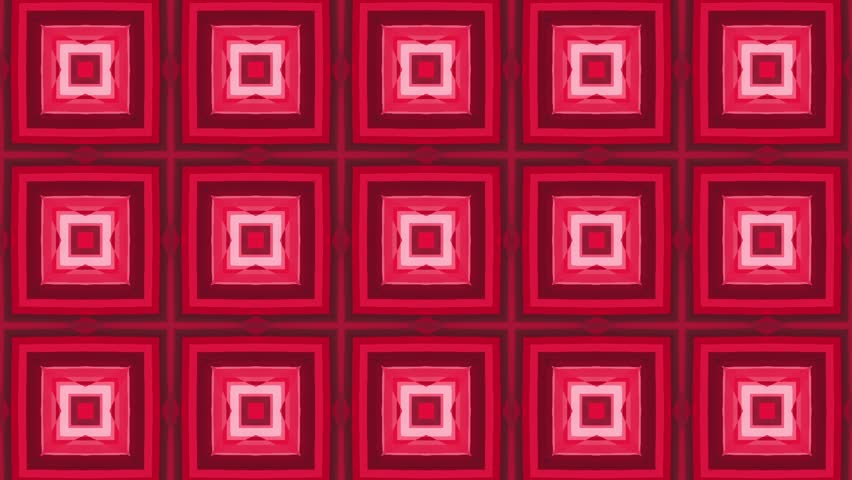 Red colorful abstract squares for music video. Animated Computer Design. Abstract Background | Shutterstock HD Video #10504991
