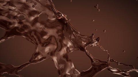 Splash of Chocolate. Slow motion.