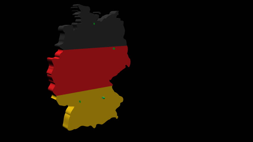 Germany Map Flag With Container Ships Departing Animation Stock - Germany map hd image