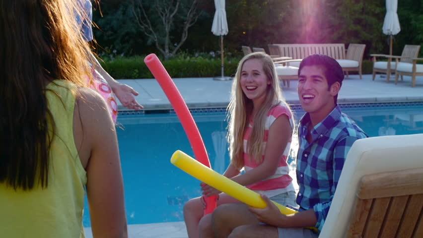 Pool Raft Stock Footage Video  Shutterstock-9586