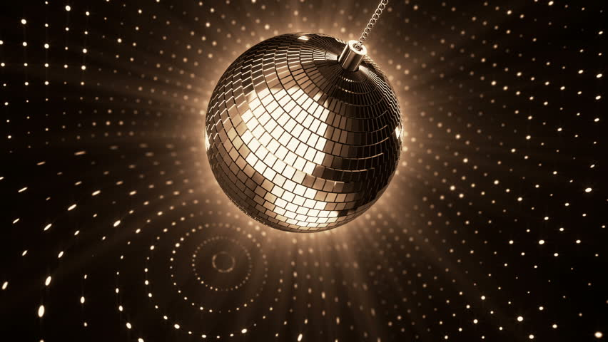 Animation rotation of disco ball on backdrop colorful walls with reflection light. Animation of seamless loop. | Shutterstock HD Video #10552481