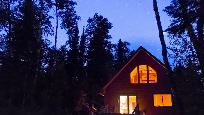 Stars Over the Cabin | Shutterstock HD Video #10554986