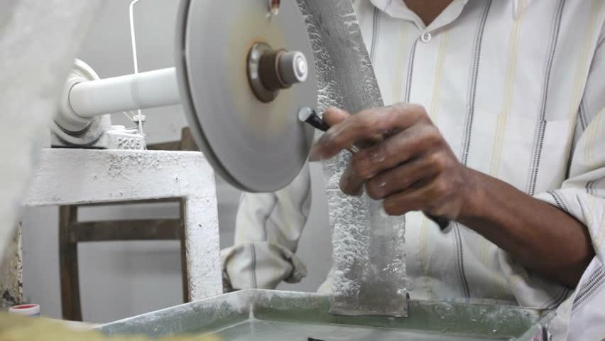 A jewelery workshop in Sri Lanka,  gem industry. | Shutterstock HD Video #1059151
